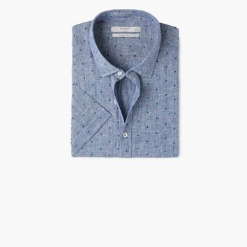 Regular-fit printed linen shirt - Man | MANGO Man United Kingdom