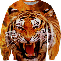 Tiger and Flame Sweatshirt