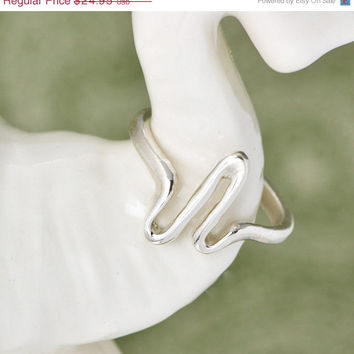 Fall Sale Sterling Silver Heart Beat Ring  - Best Friend Gift - Gift for Her - ZigZag Ring - Wave of Life Sterling Ring - Zig Zag Jewelry