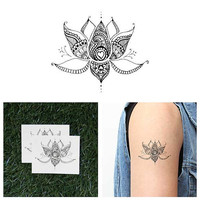 Sacred Lotus - Temporary Tattoo (Set of 2)