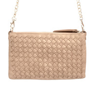 Belmond Woven Crossbody Handbag In Natural