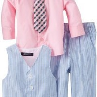 Nautica Dress Up Baby Boys' Vest Set, Light Blue, 18  Monthsonths