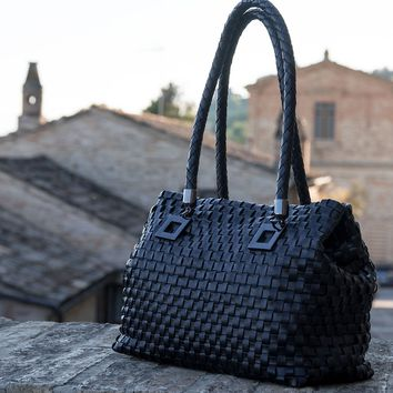 Annalisa-Hand Woven Leather Handbag