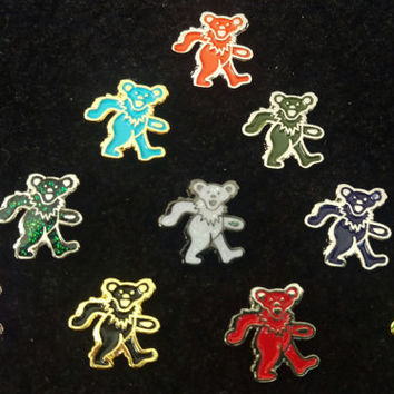 Grateful Dead Mini Dancing Bear Pins