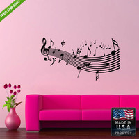 Wall Decal Mural Sticker Beautyfull Notes Music Bedroom (z192)