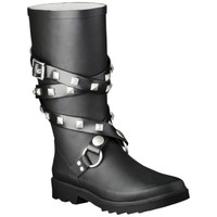 Women's Moto Rain Boot - Black