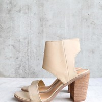 very volatile - south open toe heeled sandal - taupe