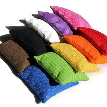 Rainbow Bean Bags Red Orange Yellow Green Blue Purple Pink White Black Brown Homeschool Child's Sensory Toy (set of 10) US Shipping Included
