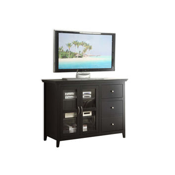 Convenience Concepts 8043387BL Designs2Go Black Sierra Highboy TV Stand