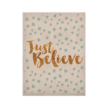 """Nick Atkinson """"Just Believe"""" White Gold KESS Naturals Canvas (Frame not Included)"""
