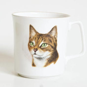Vintage Abyssinian Mug, Royal Grafton Bone China Cat Coffee Cup, Made in England