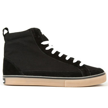 The Hundreds - Wayne High Top Black Suede & Canvas Sneakers