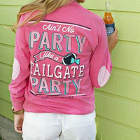Jadelynn Brooke Long Sleeve Tee- Ain't No Party Like a Tailgate Party
