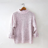 Vintage speckled sweater. Slouchy sweater. textured knit sweater.