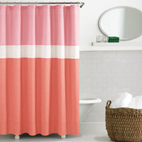 kate spade Spring Street Coral Shower Curtain