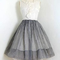 County Fair Dress [Vintage 50s gingham party dress] : Vintage Clothing, Vintage Dresses, ADOREVINTAGE.com, A vintage clothing boutique for the woman with discerning tastes