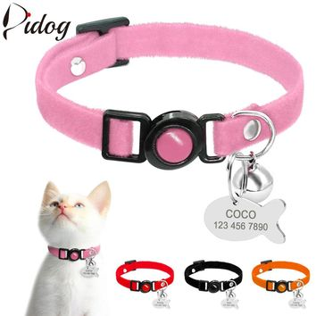 Very Soft Quick Release Safety Collar with ID Personalized Fish Tag