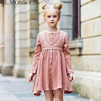 Flower Embroidery Christmas Dresses
