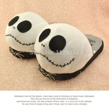 Anime Cosplay Cartoon Nightmare Before Christmas Jack Skellington Slippers Brand Adult