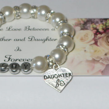 gift for daughter - name bracelet - customized name - keepsake - personalized - family - monogrammed gift - handmade bracelet