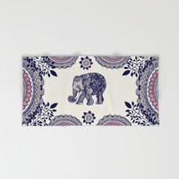 Elephant Pink Hand & Bath Towel by Rskinner1122