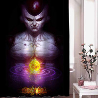Dragon Ball Z Freeza shower curtain adorabel batheroom hane made