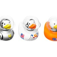 Bud Set of 3 Mini Rubber Duck Bath Tub Toy, Space