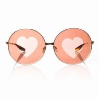 CHLOE SEVIGNY FOR OPENING CEREMONY BARTON PERREIRA CANDY - GOLD W/BROWN HEART LENS - WOMEN - PRE-ORDER