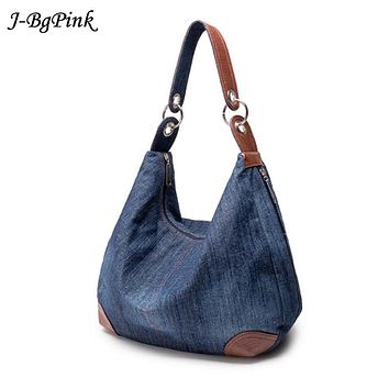 2017 New Fashion Large Luxury Handbags Women Bag Designer Ladies Hand bags Big Purses Jean Tote Denim Shoulder Crossbody