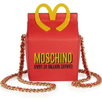 Moschino - Embroidered leather shoulder bag