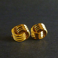 Trifari Gold Tone Earrings, Classic Knot Style, Vintage Trifari Jewelry