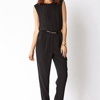 Sleek Jumpsuit w/ Belt
