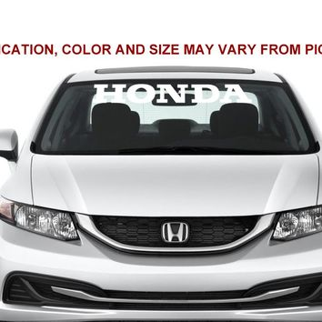 Honda Windshield Banner DX LX EX SI Type EK EG Accord vinyl decal