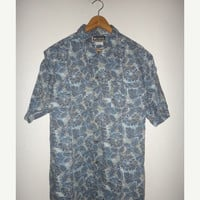 New Year Sale Columbia Hawaii Shirt Retro Button Down Surf Skate