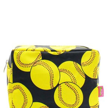 Softball Cosmetic Bag