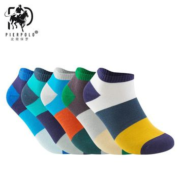 2017 Promotion Casual Mens Socks The New Men 's Color Leisure Wide Cross Socks Cotton Low To Help Foreign Trade And Wholesale