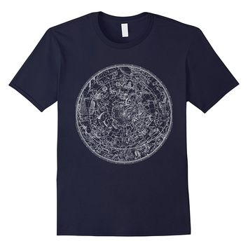 Constellation Vintage North Sky Map Star Chart Space T Shirt