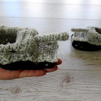 Crochet tank slippers for babies toddlers