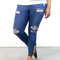 Harmony Classic Distressed Jeggings | Plus Size