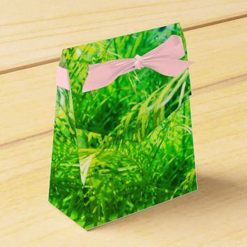 Stylized Green Palm Leaf Gift Favor Box