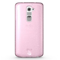 Diztronic Pink GlitterFlex TPU Case for LG G2 (AT&T, Sprint, T-Mobile Only) - Retail Packaging