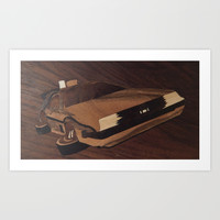 Time machine wooden marquetry Art Print by Andulino