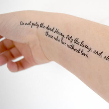 Temporary Tattoo Quote - Potter, Wizard, Geekery, Fandom, Dumbledore