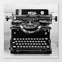 Vintage Typewriter Stretched Canvas by Legends of Darkness