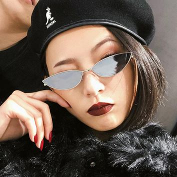 Clear festival cat women men eye sunglasses 2018 vintage luxury brand design steampunk mirror lens girls fashion Small oval
