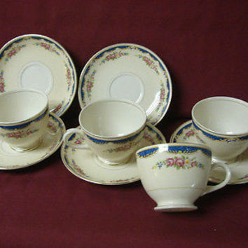 Vintage Homer Laughlin, China Dinnerware Eggshell Naut, #N1474 2 cup and saucer