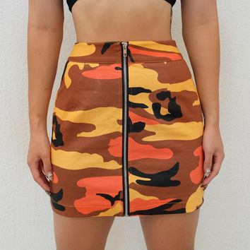 Savage Orange Camo Skirt
