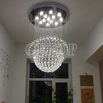 J new mordern Globe LED Chandelier K9 Crystal Ceiling Lamp Creative Suspension Light Restaurant dropLight Home lighting