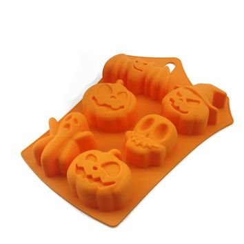 Ledifly Halloween Ghost Pumpkin Silicone Mold Candy Chocalate Cake Mould Fondant Cake Tool for Halloween Party Baking Pastry