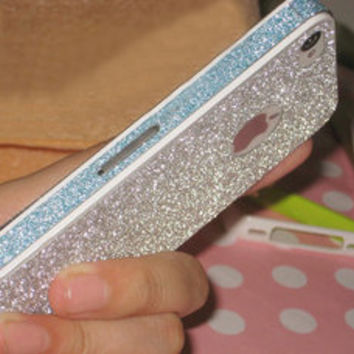 Cool Sparking Pink Nice Shiny Rhinestone Fashion Sticker For iPhone 4/4S/5